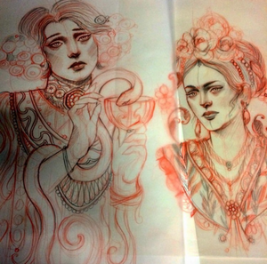 Some old sketches that I still love deeply ❤️ I'm booking end of December /January and February!!! Missjulietbooking@outlook.com #tattoo #tattoodo #ink #tattoolife #frida #klimt #missjuliet #missjuliettattoo #seventhsontattoo #sf