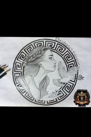 #greektattoo #greekmythology #greek #GreekGoddess #greekgirltattoo #wannado #wannadotattoo