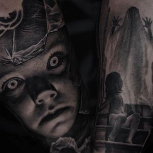 Part of the sleeve #ghost#girl#demons#blackandgrey
