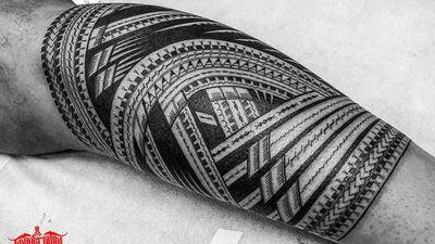 #freehand #samoan leg sleeve in progress