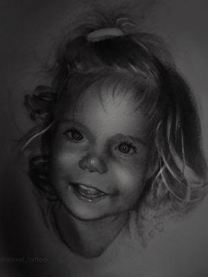 Realistic kid tattoo portrait, black and white tattoo by tattoo artist Alexei Mikhailov. insta @alexei_tattoo #tattooportrait #realistic #tattoorealism #tattoorealistic #realistictattoos #childrentattoo #kid #children #portrait #blackandwhite #tattooidea #schwedt #polandtattoos