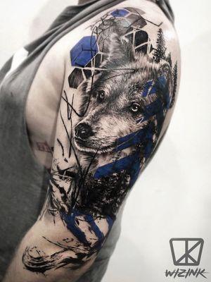 Blue wolf Trash polka