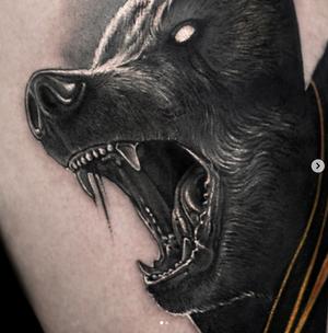 💀 done with @inkjecta @quantumtattooinks. Support @tattoodo #tattoodoambassador #dead_animal_tat #bear #blackandgray #tatmsk #msk #beartattoo #blacktattoo