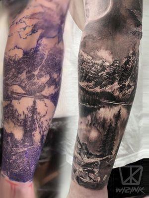 Stencil vs tattoo. Canada
