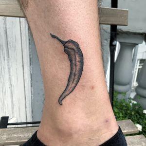 fresh chili pepper #tattoo #blackandwhiteillustration #lineworktattoo