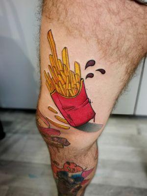 Nice fries! Done by #lovasgabi_tattoo #tattooartist #tattoodo #tattoodoapp #awesometattoo #besttattoo #colortattoo #newschooltattoo