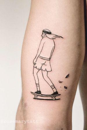 Chill skater, based on a Matt Bleaser cartoon