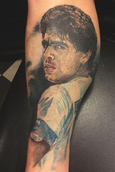 Maradona diego #maradona #diego #cultart #portrait #nl #netherlands #nijverdal #aaltinktattoo #cultartgertjan #soccer #footbal
