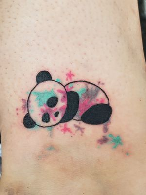 Panda, paint splatter