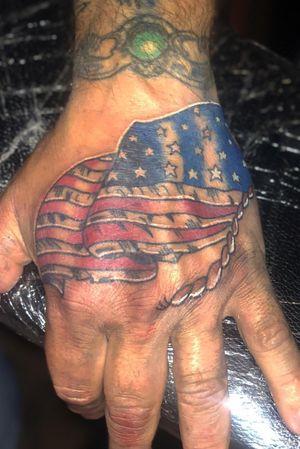 American flag hand piece