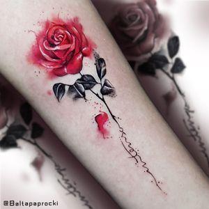 watercolor rose #rose #watercolor #flower
