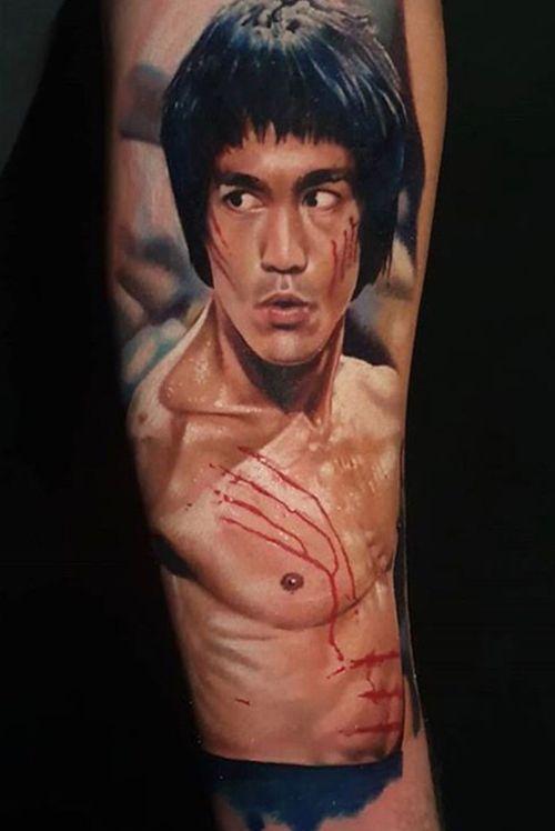 Bruce Lee portrait by Amy Edwards