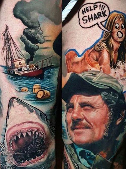 Jaws leg piece by Amy Edwards