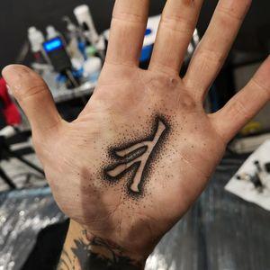 Futhark rune #balmtattoo #main #futharkrunes #runestattoo #dotworktattoo