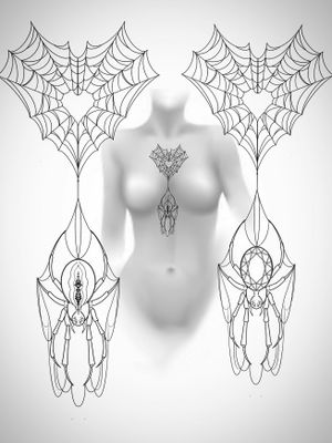 Tattoo idea! Ready for Halloween 👻 🎃 #spider #spidertattoo #tattooidea #chesttattoo #underboob