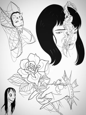 Soooky fun times ideas contact to get booked in don't steal. #tattooidea #guro #gore #spider #hannyatattoo #handtattoo #momo