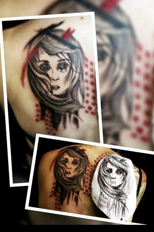 #trashpolka #artist #followme #follow #germanytattoo #germantattooers #solingen #deepneedletattoo#farbe #lines #rot #frau #arm #frau #inked #tattoodo #tattoodoambasador#germantattooer #inkmaster #black #lines #fineline