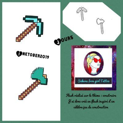 Inktober jour 5 avec le thème construire. Et du coup hop , un petit flash Minecraft ;) @sakurairongirltattoo #tattooflash #flashtattoo #Inktober2019 #Inktober #TheFrenchInktober #minecraft #weapon #arme #videogame #lens #game #fullcolortattoo #tattoofrance #francetattoo #kawaiitattoo #cutetattoo #graphictattoo #tattoographic #tattoocolor #colortattoos #colortattoo #tatoo #tattoos #tatouage #tatouages #tattoodo #neotradtattoo #frenchtattooflash