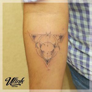 #triangletattoo #linework #fineline #armtattoo #geometrictattoo