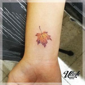 #autumn #smalltattoos #colortattoo #leaftattoo