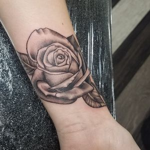 Classic black and gray rose. Never get tired of these!