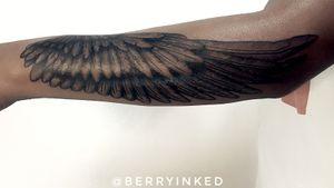 Angel wings 🌸 #realism #wings #linework #blackwork