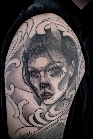 Anomaly serie • #blackandgrey #tattoo #customdesign