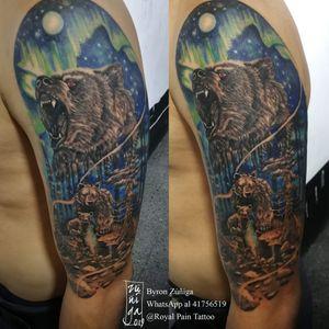 Bear family tattoo. Available in Guatemala.