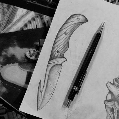 Design. #knife #knifetattoo #dotwork #darkart #darktattoo #darktattoos #horror #saintpetersburg #weapon #weapontattoo