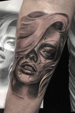 #tattoo #katrina #blackandgrey #realistictattoo #portraittattoo