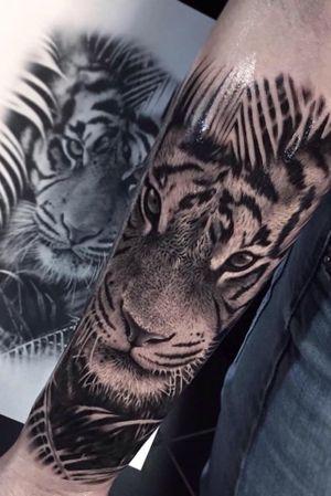 #tiger #tigertattoo #realistic #realistictattoo #ink #inked #inkedgirl #tattoodo