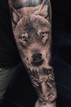 #wolftattoo #wolf #blackandgrey #ink #inkedboy #stuttgart