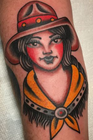 #cowgirl #tattoo done at Hot Stuff Tattoo, Asheville N.C.
