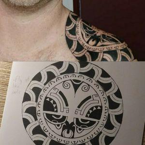 Diseño maorí marquesano #customtattoo #estudiotattoo #polynesiantattoo #polynesian #marquesan #maori #owndesign