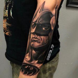 Batman on the outer forearm
