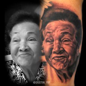 Memorial portrait of clients grandmother