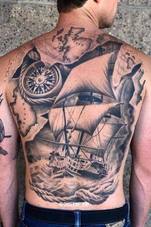 Healed nautical themed backpiece