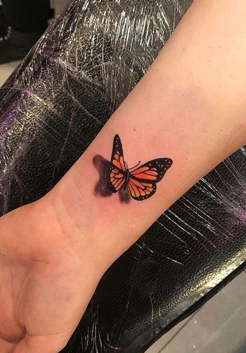 #Butterfly #butterflytattoo #3D #3Dbutterfly #colourbutterfly #colourtattoo