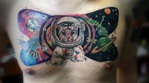 Astronaut cat and space! #cattattoo #space #bogota