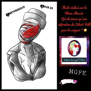 Qui de mieux qu'une infirmière de Silent Hill pour te soigner ? Thème blessé de l'Inktober @sakurairongirltattoo #tattooflash #flashtattoo #silenthill #dark #tattoofrance #francetattoo #nurse #horrormovie #Inktober2019 #graphictattoo #tattoographic #tattoocolor #tatoo #tattoos #tatouage #tatouages #tattoodo #neotradtattoo #neotraditionalfrance #neotraditionaleurope #frenchtattooflash #instapic #flash #Inktober2019 #TheFrenchInktober