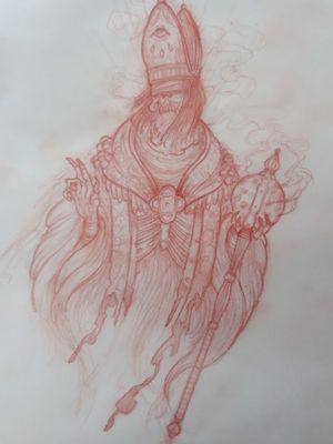 Skeletal bishop ready to go!!
