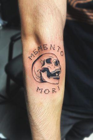 Memento Mori Skull Tattoo #skull #skulltattoo #mementomori #mementomoritattoo