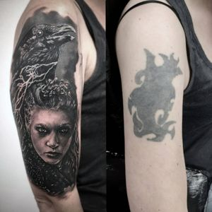 #Vikings #Lagertha cover up 🗡️ . . . #MrWhiteSnakeTattoo #Bakutattoo #tattoouk #art #tattoo #inked #tatuaz #portsmouth #southamptontattoo #southampton #portsmouthtattoo #poland #hampshiretattoo #tattooed #womantattoo #tattoo #womanportrait #polishgirl #tattoos #blackandgreytattoo #realism #tattoodesign #tattooidea #shieldmaiden #shieldmaidentattoo #viking #vikingtattoo #lagerthatattoo @totaltattoo @skindeep_uk @the.best.tattoo.page @crazyytattoos @tattoorealistic @fkirons