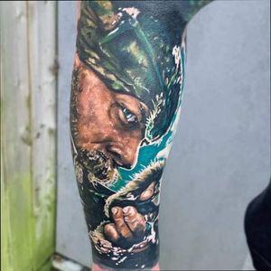 #Hunter ❄️ #TomHardy from #Revenantmovie . . . . . . #MrWhiteSnakeTattoo #tomhardyportrait #Bakutattoo #tattoouk #tattoo #inked #ink #tatuaz #portsmouth #southamptontattoo #southampton #portsmouthtattoo #poland #colourtattoo #hampshiretattoo #foresttattoo #snowtattoo #tattooportrait #tattoos #tattooartist #tomhardytattoo #thebesttattoopage #revenantmovie #revenanttattoo #huntertattoo @totaltattoo @skindeep_uk @the.best.tattoo.page @crazyytattoos @tattoorealistic