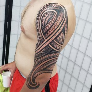 Polynesian/tribal 3/4 outside only sleeve