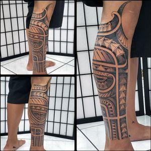 Polynesian/tribal half leg piece