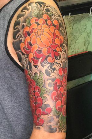 Japanese flowers half sleeve