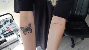#letteringtattoo #butterflytattoo
