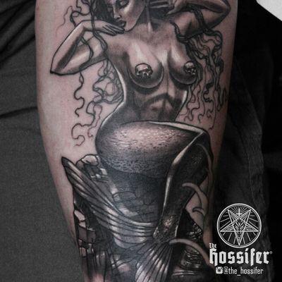 Original art #dark #mermaid #skulls #rock #hair #venus #beauty #portrait #realistic #blacktattoo #blackandgray #tattoo #realism #original #freehand #soft #hoss #cruz #hossifer #austin #best #texas #vibrant #professional #experienced #artistic #art #bright #bold #illustrative #custom #design #black #gray #grey