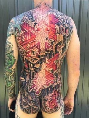 From: Google search- Pinterest  #MikeCole #Bio-mechanical #fullbacktattoo